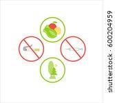 symbols flat design icons set.... | Shutterstock .eps vector #600204959