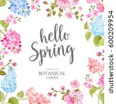 spring time concept of card... | Shutterstock . vector #600209954