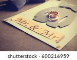 gay marriage card invitation on ... | Shutterstock . vector #600216959