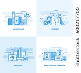 modern flat color line designed ... | Shutterstock .eps vector #600217700