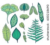 trendy spring design. hand... | Shutterstock .eps vector #600218690