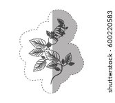 sticker with grayscale contour...   Shutterstock .eps vector #600220583