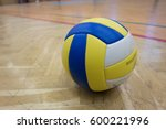 Yellow Blue White Volleyball O...