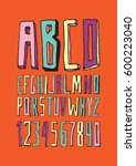graphic font for your design.... | Shutterstock .eps vector #600223040