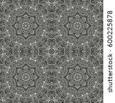 beautiful black mandala. ethnic ... | Shutterstock .eps vector #600225878