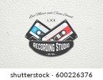 color sticker studio recording...   Shutterstock . vector #600226376