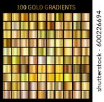 gold gradients 100 big set.... | Shutterstock . vector #600226694