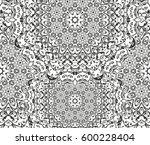 seamless floral pattern motif... | Shutterstock .eps vector #600228404
