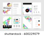 memphis geometric background... | Shutterstock .eps vector #600229079