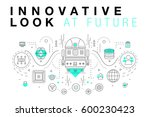 trendy innovation systems... | Shutterstock .eps vector #600230423