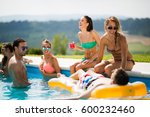 group of happy young people... | Shutterstock . vector #600232460