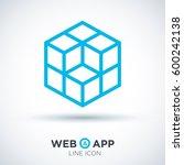 cube isolated minimal icon....