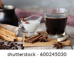 coffee with milk | Shutterstock . vector #600245030