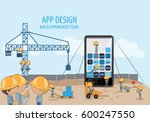 mobile application development... | Shutterstock .eps vector #600247550