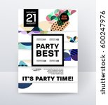 invitation disco party poster... | Shutterstock .eps vector #600247976
