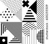 seamless geometric pattern in... | Shutterstock .eps vector #600255509