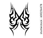 vector tribal tattoo designs.... | Shutterstock .eps vector #600256478