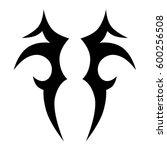 vector tribal tattoo designs.... | Shutterstock .eps vector #600256508