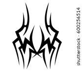vector tribal tattoo designs.... | Shutterstock .eps vector #600256514