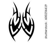 tattoo tribal vector designs...   Shutterstock .eps vector #600256619