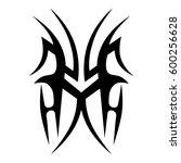 vector tribal tattoo designs.... | Shutterstock .eps vector #600256628