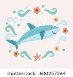 vector cartoon illustration of... | Shutterstock .eps vector #600257264