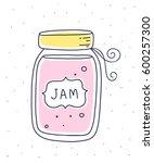 vector illustration of pink... | Shutterstock .eps vector #600257300