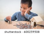 saving money  selective focus ... | Shutterstock . vector #600259508