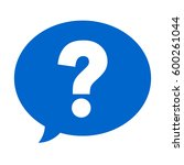 question mark in a speech... | Shutterstock .eps vector #600261044