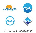 water wave symbol and icon logo ... | Shutterstock .eps vector #600262238