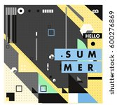 trendy vector summer cards... | Shutterstock .eps vector #600276869