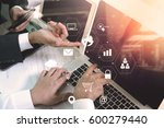 co working team meeting concept ... | Shutterstock . vector #600279440