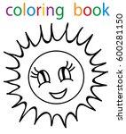 vector  book coloring sun  | Shutterstock .eps vector #600281150
