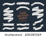 retro ribbon banners vector... | Shutterstock .eps vector #600285569