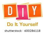 diy   do it yourself pink... | Shutterstock . vector #600286118