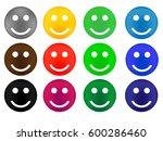 set of colored smileys | Shutterstock .eps vector #600286460