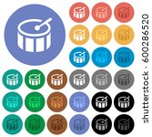 drum multi colored flat icons... | Shutterstock .eps vector #600286520