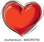 heart shape | Shutterstock .eps vector #600290750