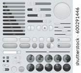 set of interface buttons. grey... | Shutterstock . vector #600291446