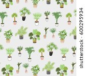 vector house tropical palm... | Shutterstock .eps vector #600295934
