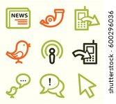internet web icons set. service ...   Shutterstock .eps vector #600296036