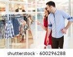 beautiful couple enjoy shopping ...   Shutterstock . vector #600296288