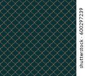elegant seamless pattern.... | Shutterstock .eps vector #600297239