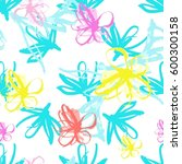 romantic seamless pattern... | Shutterstock .eps vector #600300158