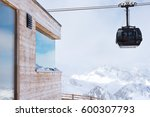 Cable Car At A Ski Resort. The...