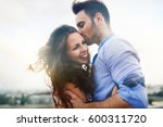 beautiful couple in love dating ... | Shutterstock . vector #600311720