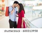 beautiful couple enjoy shopping ... | Shutterstock . vector #600313958
