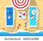 summer vector illustration of... | Shutterstock .eps vector #600316388