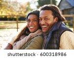 portrait of loving couple... | Shutterstock . vector #600318986
