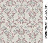 vector baroque floral pattern.... | Shutterstock .eps vector #600322484